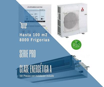 AIRE ACONDICIONADO POR CONDUCTOS MITSUBISHI ELECTRIC MGPEZ-100 VJA WIFI