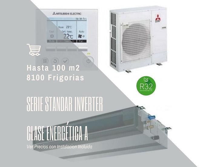 AIRE ACONDICIONADO POR CONDUCTOS MITSUBISHI ELECTRIC MSPEZ 100 VJA WIFI 8000 fg