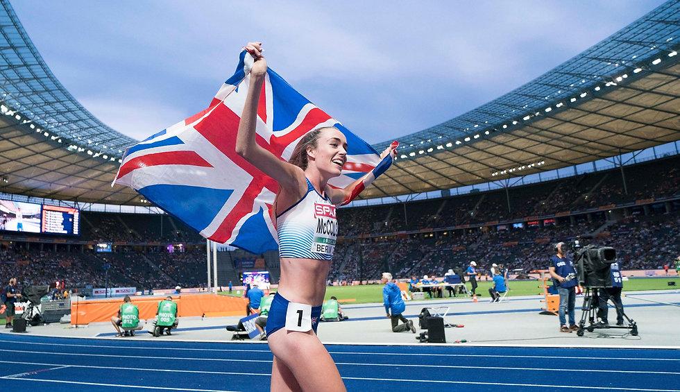 Eilish McColgan Great Britain runner providing testimonial for Extra Mile Health