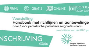 Richtlijnen voor pediatrische palliatieve zorg, Online event op 3 juni 2021