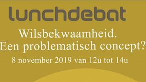 """Lunchdebat """" Wilsbekwaamhei, een problematisch concept ? """", Brussel, 8 nov 2019"""