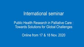 International seminar Public Health Research in Palliative Care, 17-18 Nov 2020