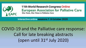 The 11th EAPC World Research Congress 2020 goes online from 7-9 October 2020
