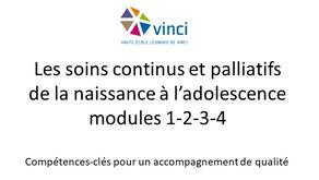 Formation : Les soins continus et palliatifs de la naissance à l'adolescence