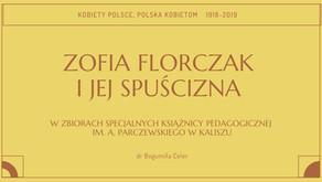 O spuściźnie Zofii Florczak ze zbiorów Książnicy podczas warszawskiej konferencji