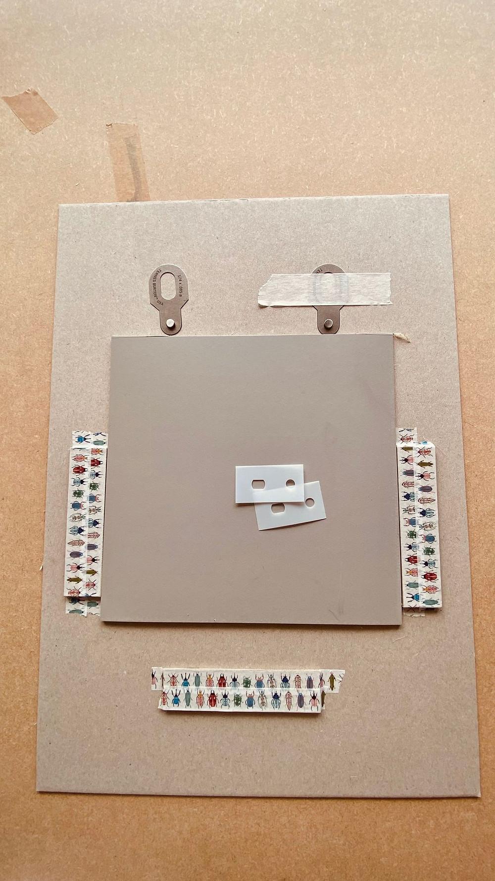 Ternes Burton strips and tabs registration board