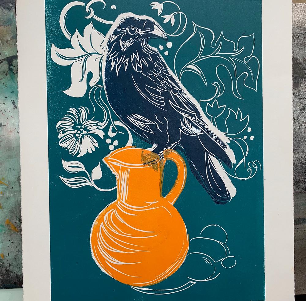 Rachel collier-wilson creative with lino linocut printmaker