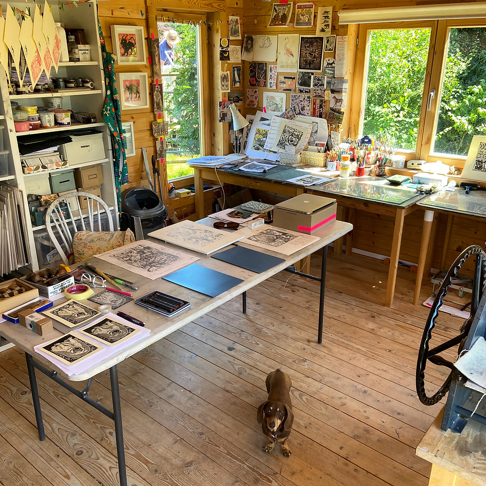 Sam Marshall Art linocut printmaker