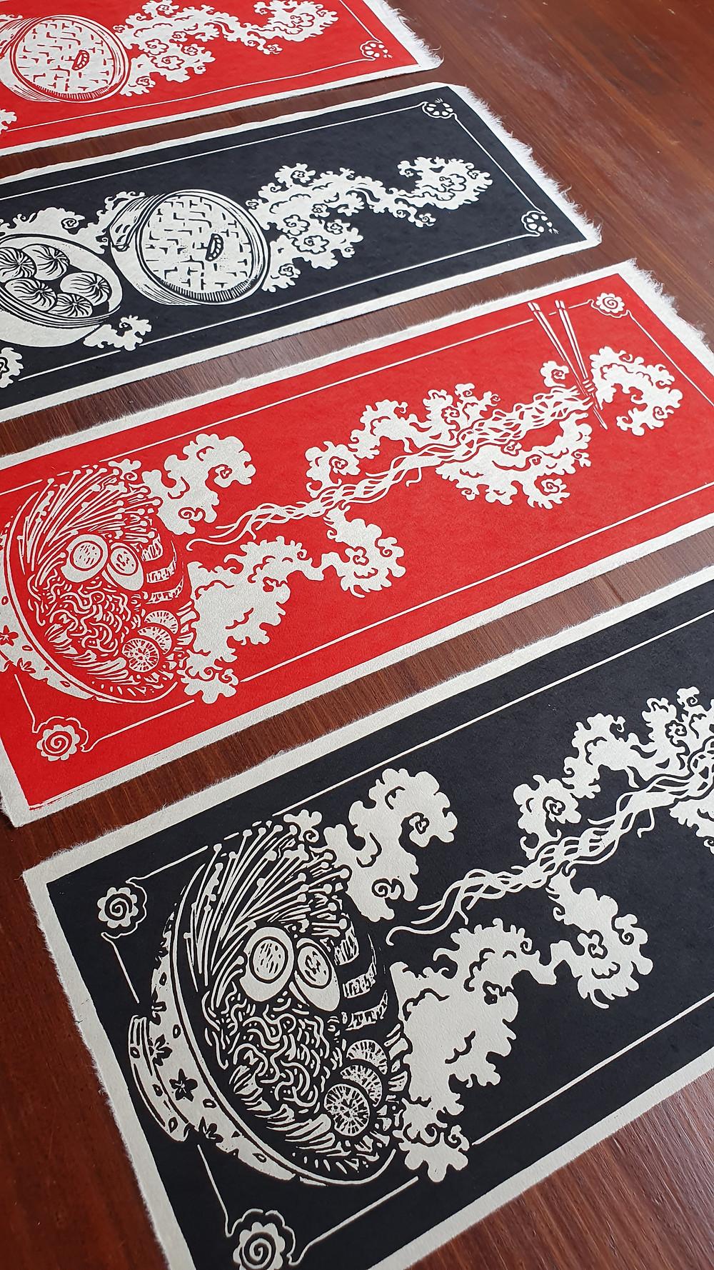 ramen noodles honeythief prints