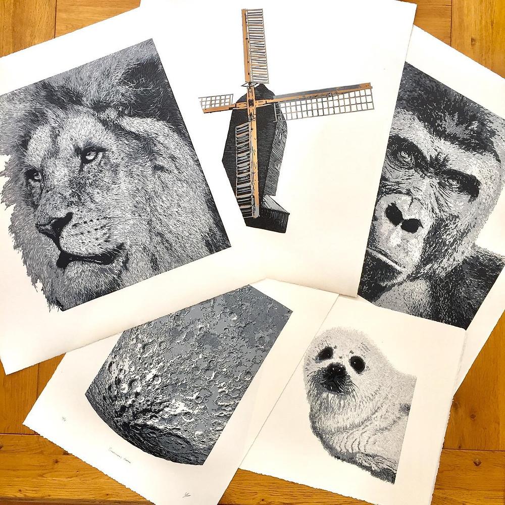 Wayne longhurstlino linocut printmaker