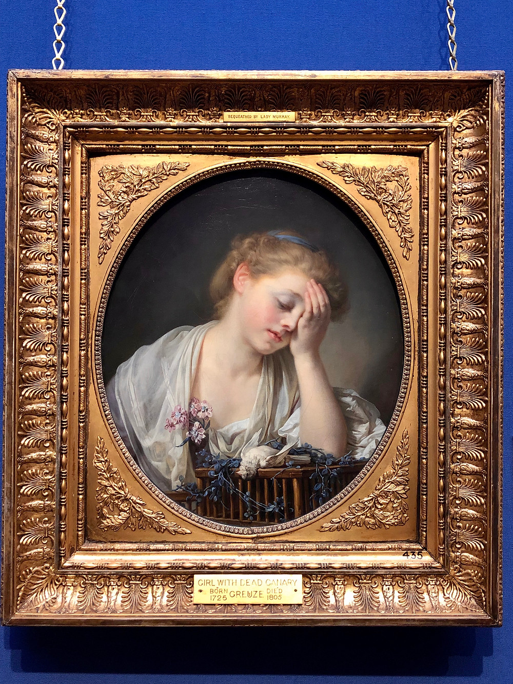 girl with a dead canary Jean-Baptiste Greuze scottish national gallery