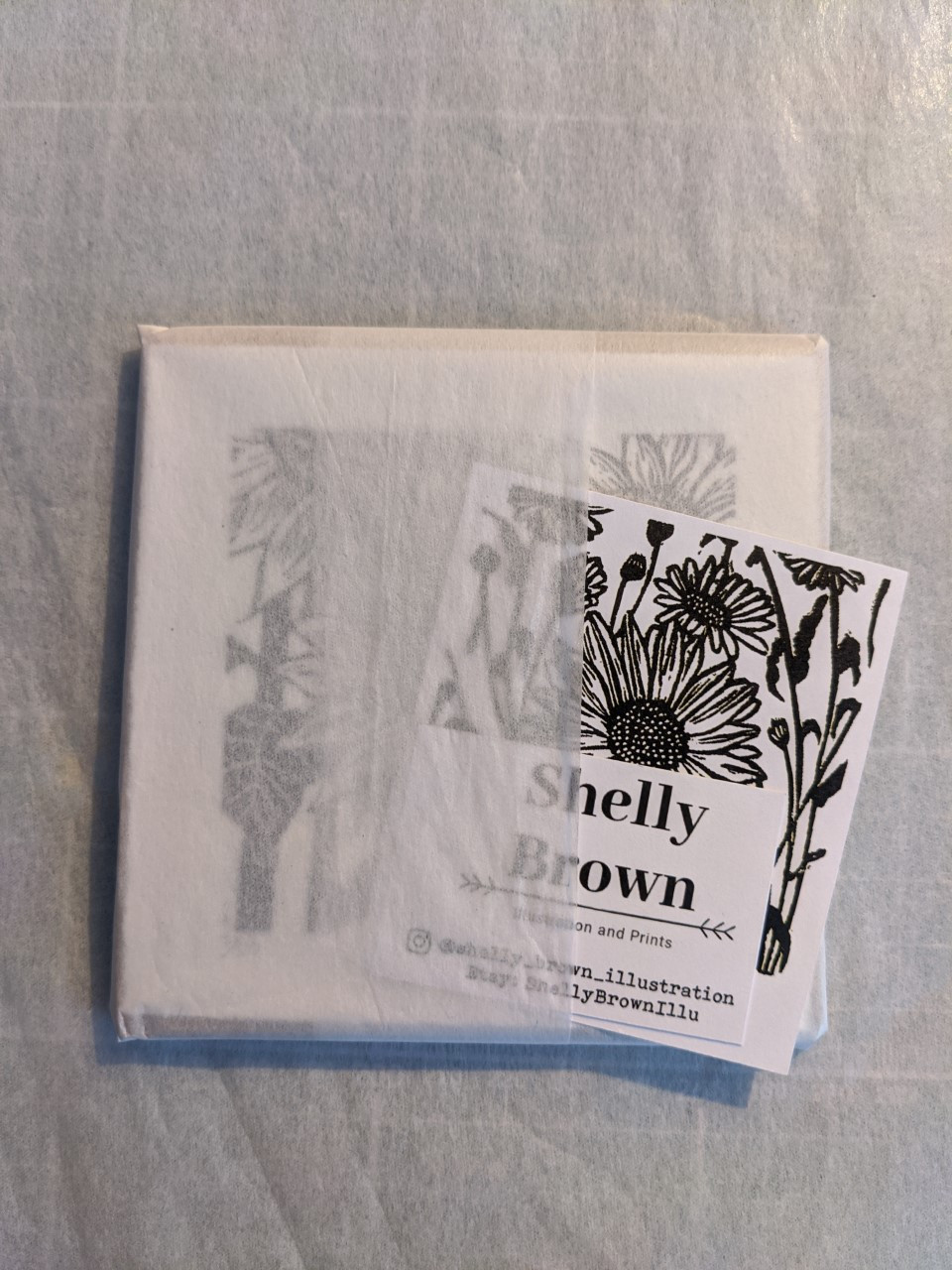 shelly brown illustration packaging plastic free linocut printmaker