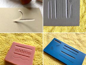 different lino blocks - compare and contrast