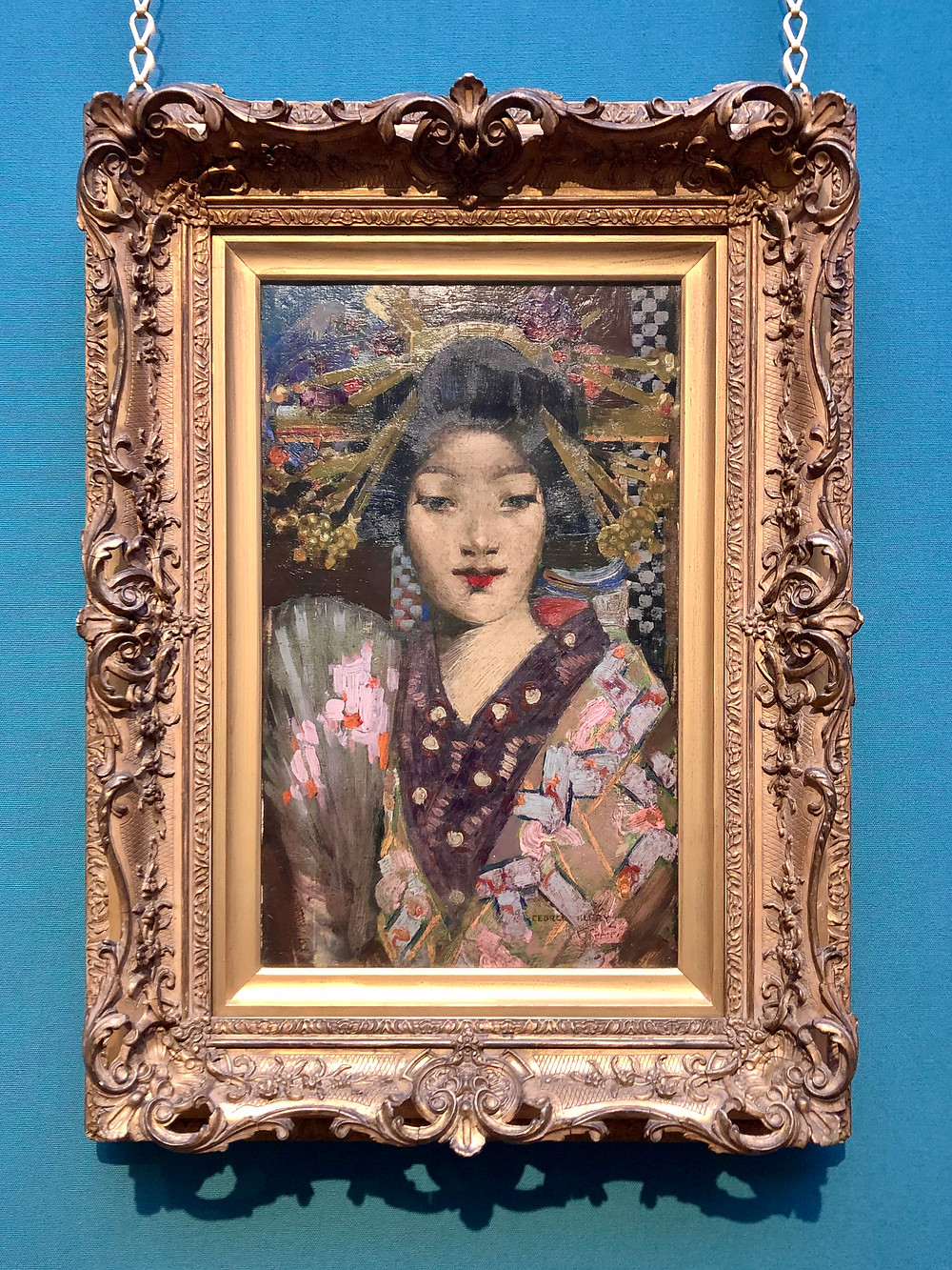 George Henry's Geisha Girl scottish national gallery japanese geisha girl