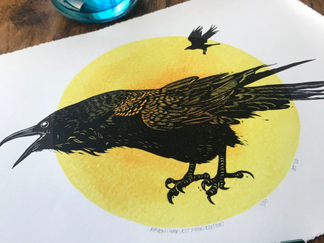 Meet the printmaker - Jane Constable at Inky Dog Studio