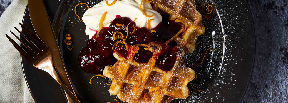 Waffles and Compote