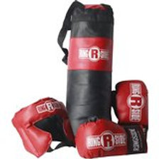 Ringside Youth Kids Boxing Kit Training Bag Set Punching Bag Gloves Heavy Bag Bu