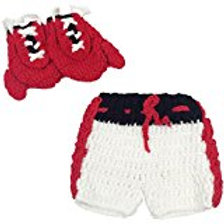Shinystar Baby Photography Prop Boxing Costume Crochet Knitted Gloves Pants