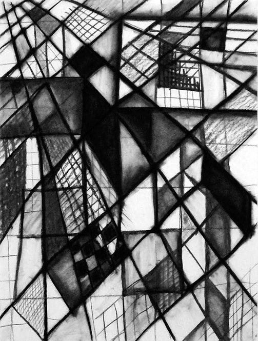 Composition #2  25x37 framed