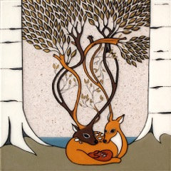 Deer Family Tree  8x10