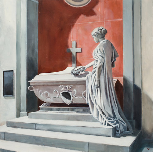 Santa Croce Statue at Tomb  12x12