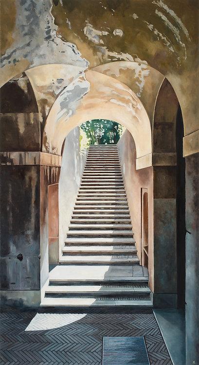 Rome Ruins Staircase  36x66