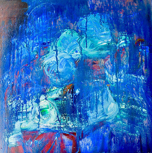 Blue In Thought  24x24