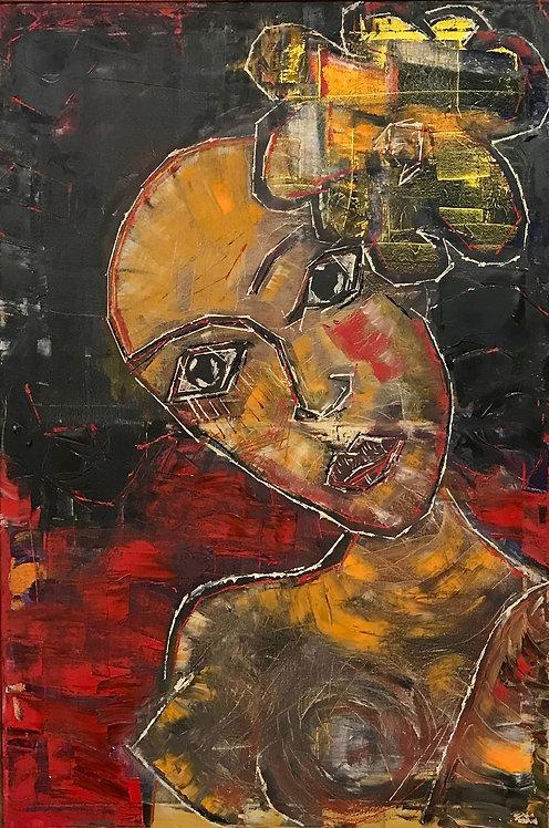Portrait of Portrait of Fictional Flower 36x24