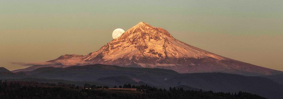 Mt. Hood Moonrise 40x14