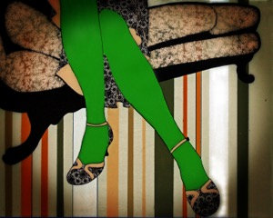 Formidable Green Tights  8x10