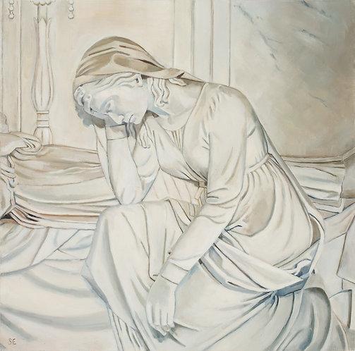 Santa Croce Statue Grieving  12x12