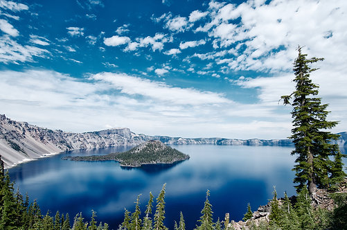 Blue Crater Lake12x8