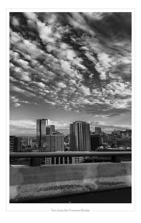 View from Fremont Bridge  13x19