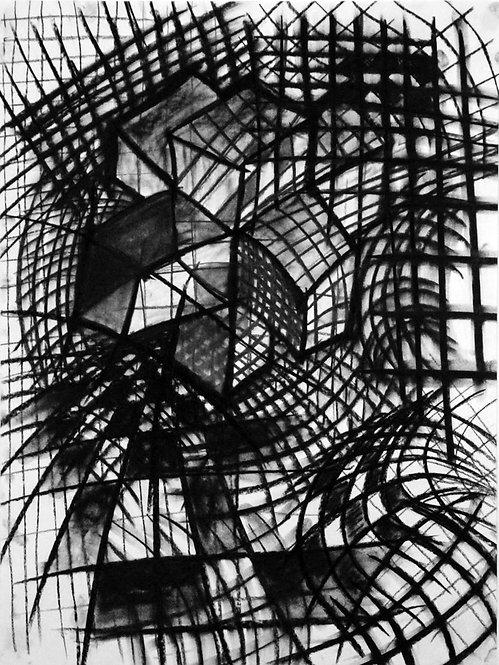 Hypercube #1  25x37 framed