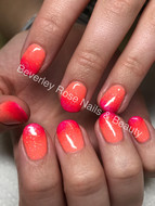 Lovely holiday ombre gel polish