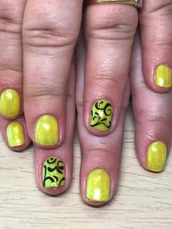 Brights on natural nails