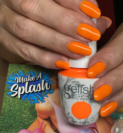 Hot Orange Natural NAils