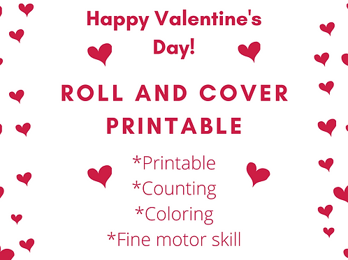 Valentine's Day Free Worksheet, Preschool, Kindergarten
