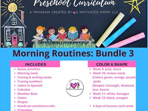PreK-4 Morning Routines Bundle 3 Preschool Curriculum