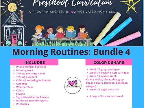 PreK-4 Morning Routines Bundle 4 Preschool Curriculum