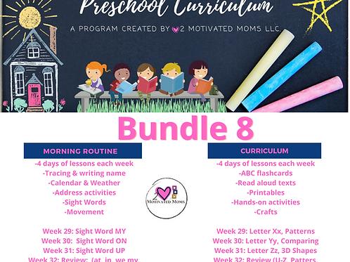 PreK-4 Bundle 8 Preschool Curriculum