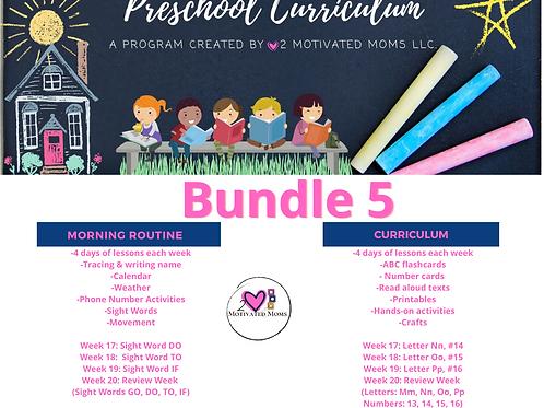 PreK-4 Bundle 5 Preschool Curriculum