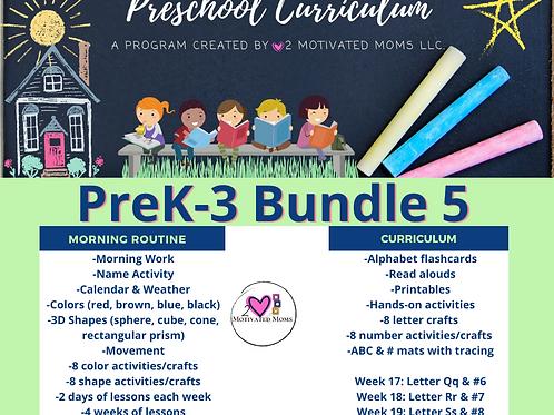 PreK-3 Bundle 5 Preschool Curriculum