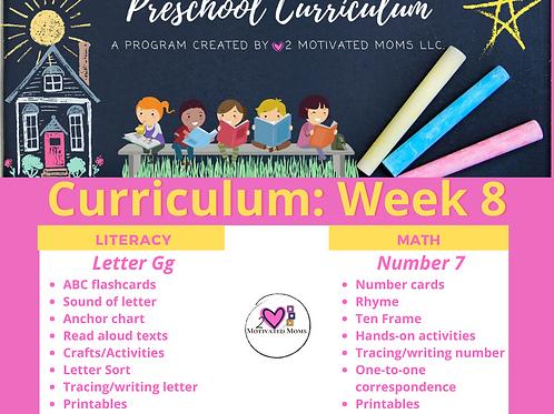 PreK-4 Week 8 Preschool Curriculum