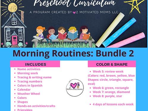 PreK-4 Morning Routines Bundle 2 Preschool Curriculum