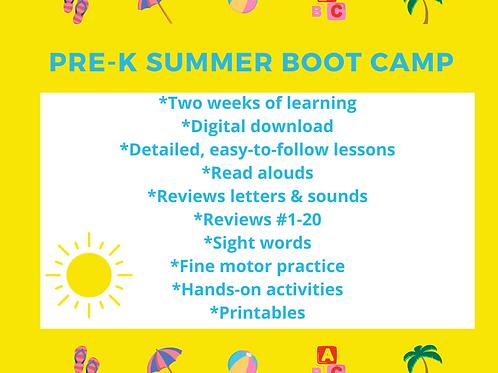 Preschool Curriculum Summer Boot Camp