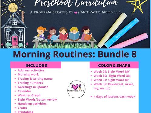 PreK-4 Morning Routines Bundle 8 Preschool Curriculum