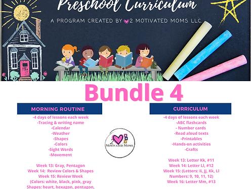 PreK-4 Bundle 4 Preschool Curriculum