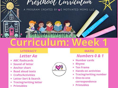 PreK-4 Week 1 Preschool Curriculum