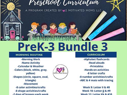 PreK-3 Bundle 3 Preschool Curriculum